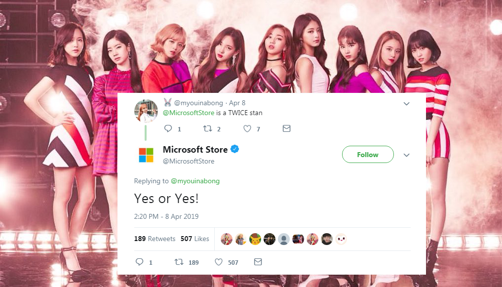 Microsoft x Twice