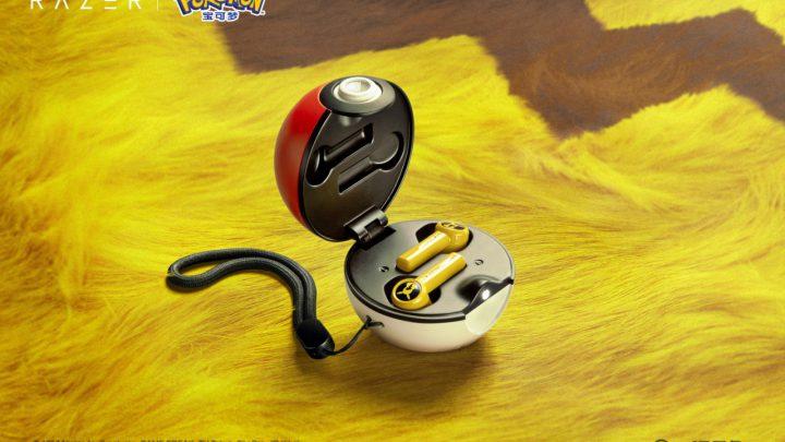 razer pikachu earbuds pokeball